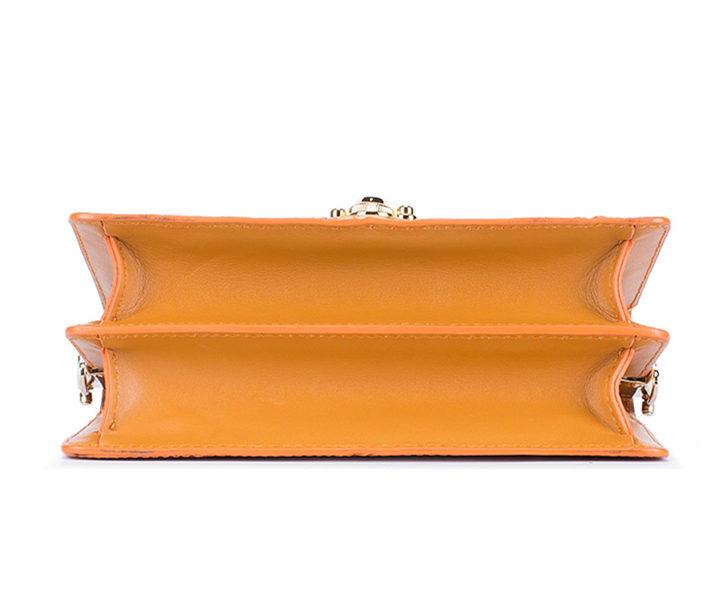 Stylish Sturgeon Leather Handbag, Shoulder Bag, Crossbody Bag Purse-Bottom