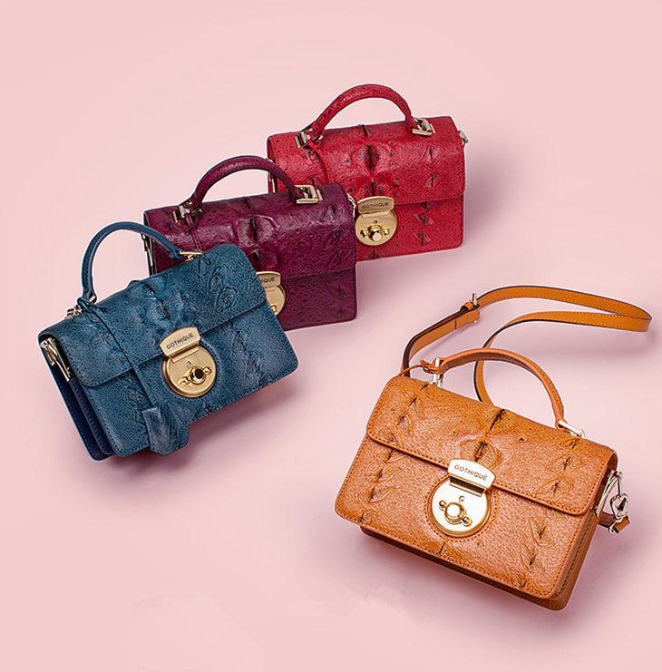 Stylish Sturgeon Leather Handbag, Shoulder Bag, Crossbody Bag Purse-Exhibition