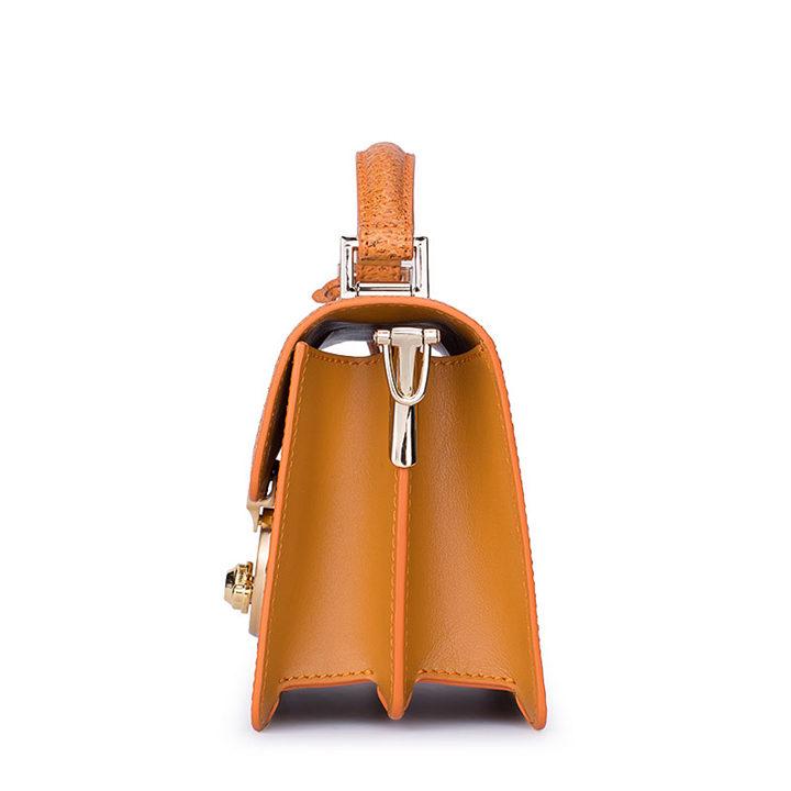 Stylish Sturgeon Leather Handbag, Shoulder Bag, Crossbody Bag Purse-Side