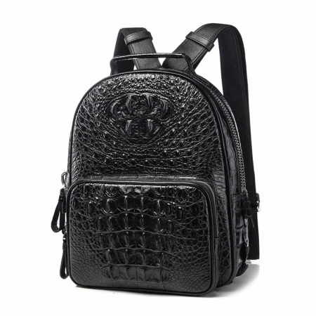 Unisex Crocodile Backpack, Casual Crocodile Laptop Travel Backpack-1
