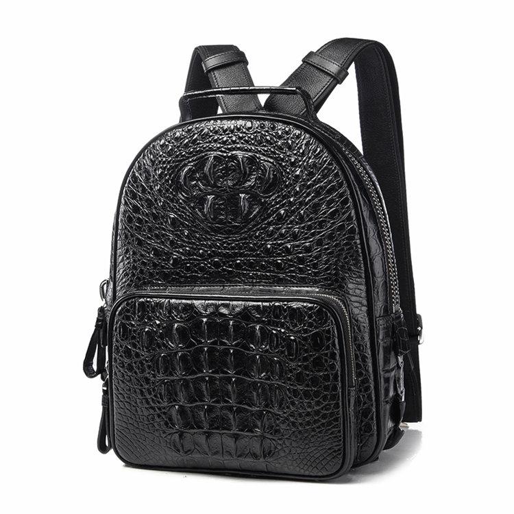 Unisex Crocodile Backpack, Casual Crocodile Laptop Travel Backpack-1