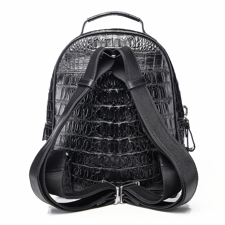 Unisex Crocodile Backpack, Casual Crocodile Laptop Travel Backpack-Back