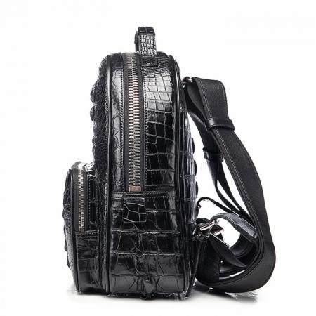 Unisex Crocodile Backpack, Casual Crocodile Laptop Travel Backpack-Side