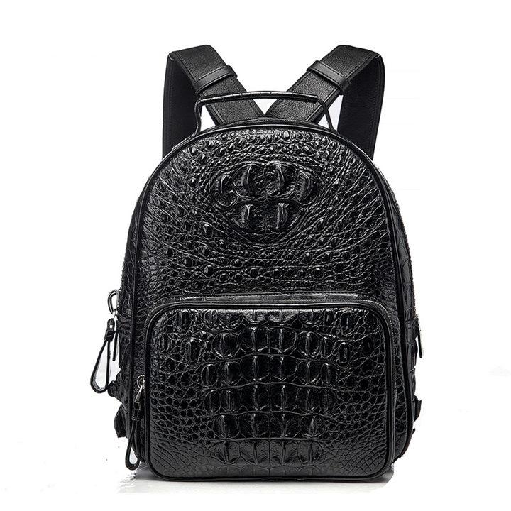 Unisex Crocodile Backpack, Casual Crocodile Laptop Travel Backpacks