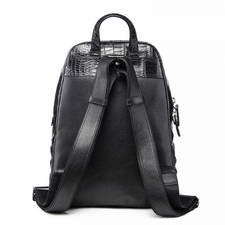 Unisex Crocodile Backpack, Fashion Crocodile Daily Backpack-Back