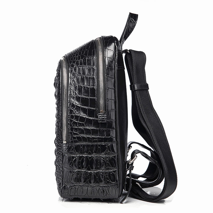 Unisex Crocodile Backpack, Fashion Crocodile Daily Backpack-Side