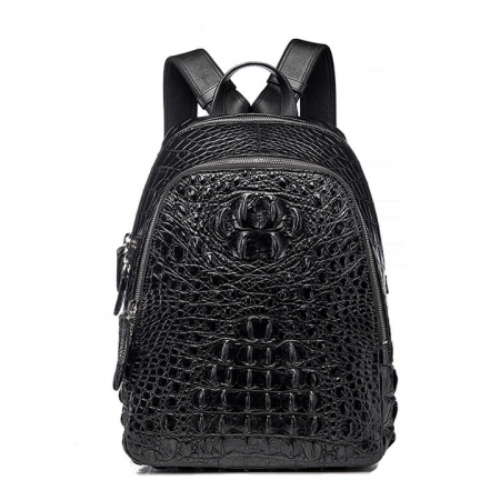 Unisex Crocodile Backpack, Fashion Crocodile Daily Backpacks