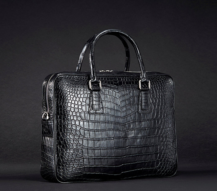 2017 New BRUCEGAO Alligator Bag for Men