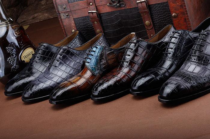 2017 New BRUCEGAO's Fashion Alligator Shoes