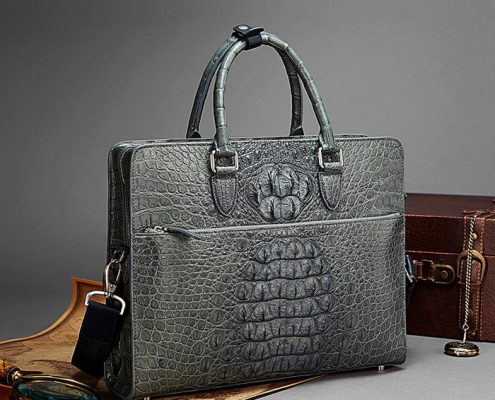 2018 New BRUCEGAO Alligator Bag for Men