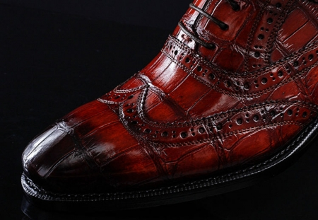 Alligator Brogue Wingtip Dress Shoes-Details