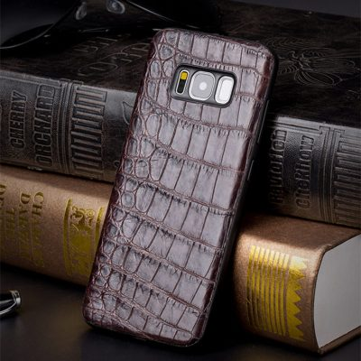 Crocodile Galaxy S8, S8+ Plus Case, Alligator Galaxy S8, S8+ Plus Case-Brown