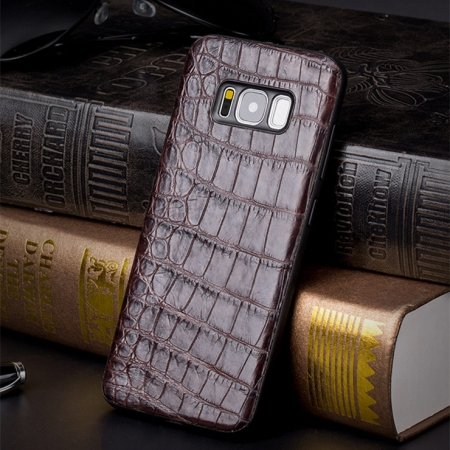 Alligator Galaxy S8 Case-Brown