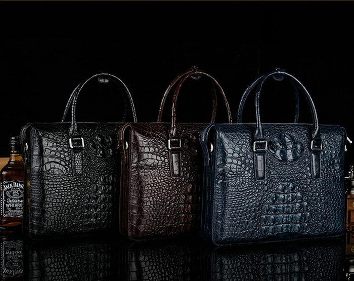 Alligator Leather Briefcases for Men