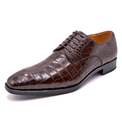 BRUCEGAO Alligator Shoes for Men