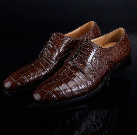 BRUCEGAO Genuine Alligator Dress Shoes for Men-1