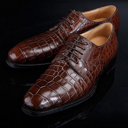 BRUCEGAO Genuine Alligator Dress Shoes for Men-2