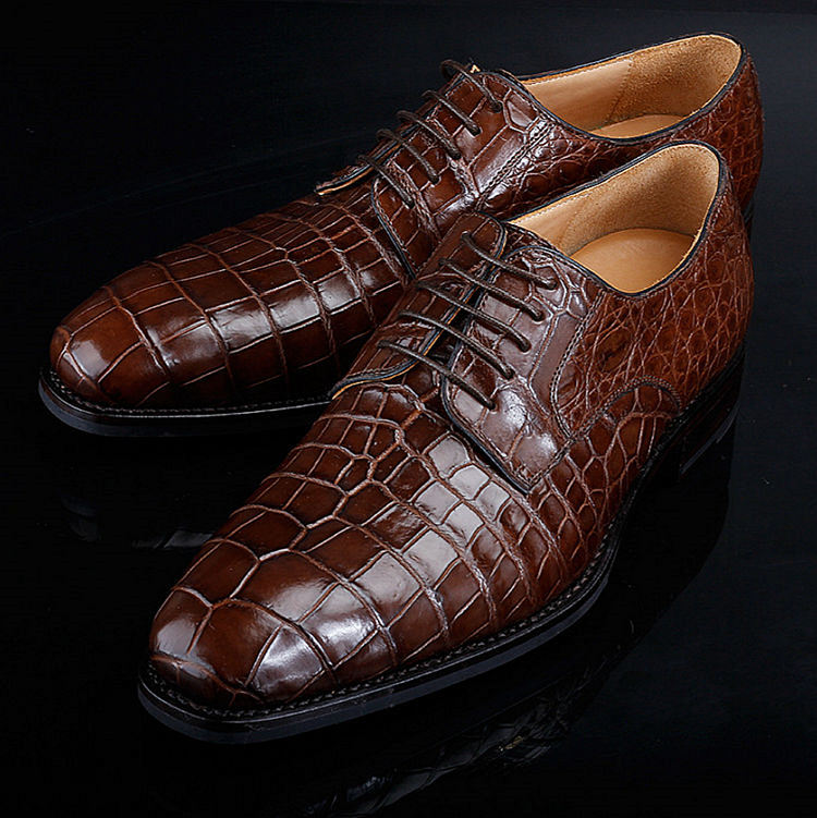 BRUCEGAO Genuine Alligator Dress Shoes for Men-2