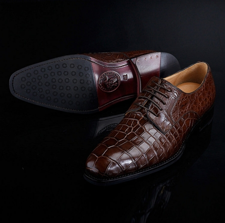 BRUCEGAO Genuine Alligator Dress Shoes for Men-Exhibition
