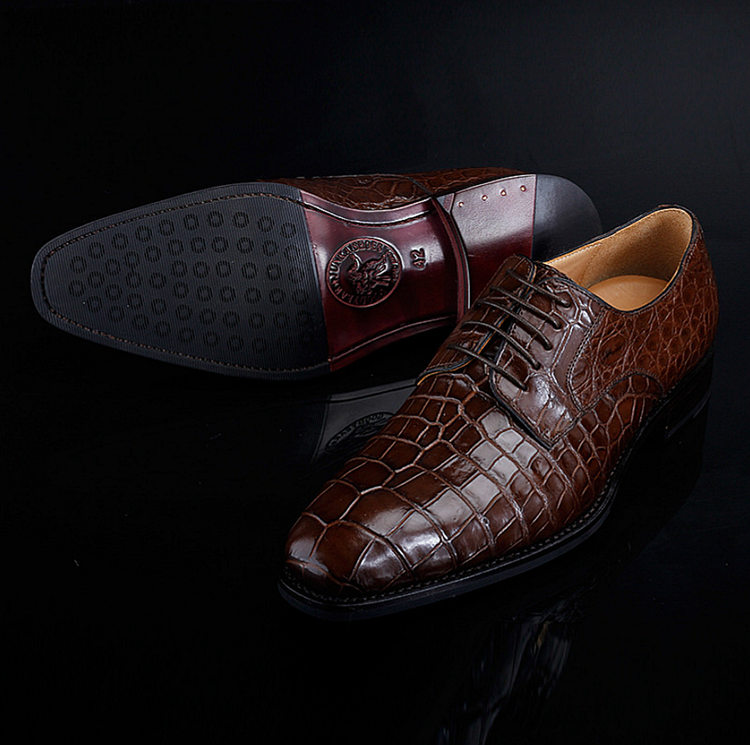 BRUCEGAO Genuine Alligator Dress Shoes for Men-Exhibition