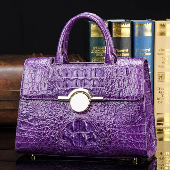 BRUCEGAO Pink Crocodile Handbag
