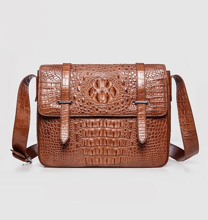 BRUCEGAO's Crocodile Messenger Bag