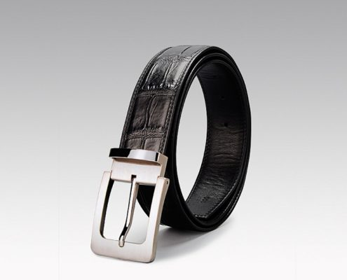 Black Crocodile Belt to Match The Blue Pants