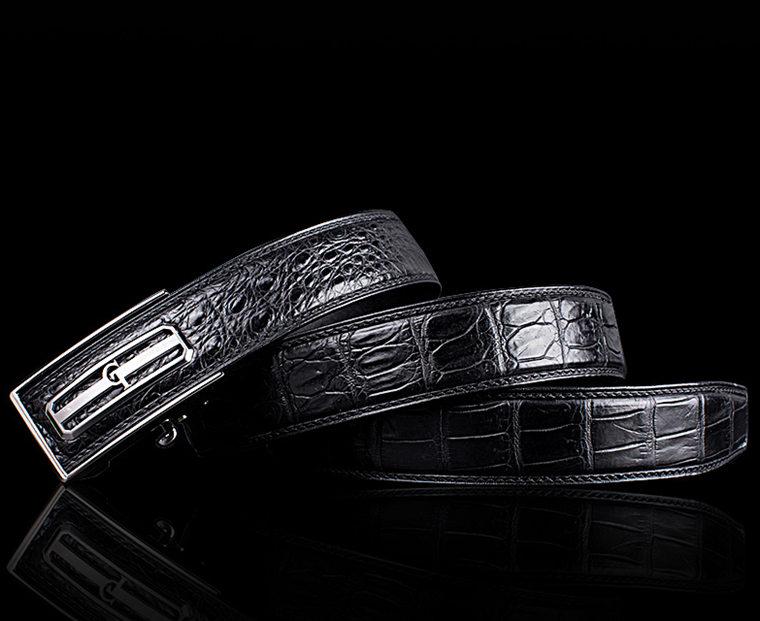 Classic Crocodile Dress Belt, Genuine Crocodile Belt for Men-GT-Lay