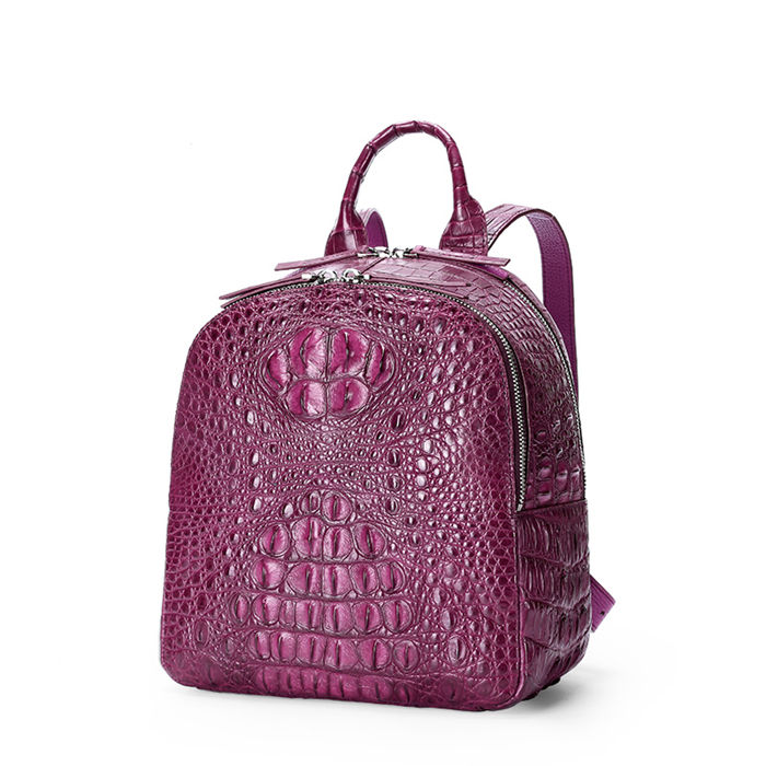 Crocodile Backpack-Pink