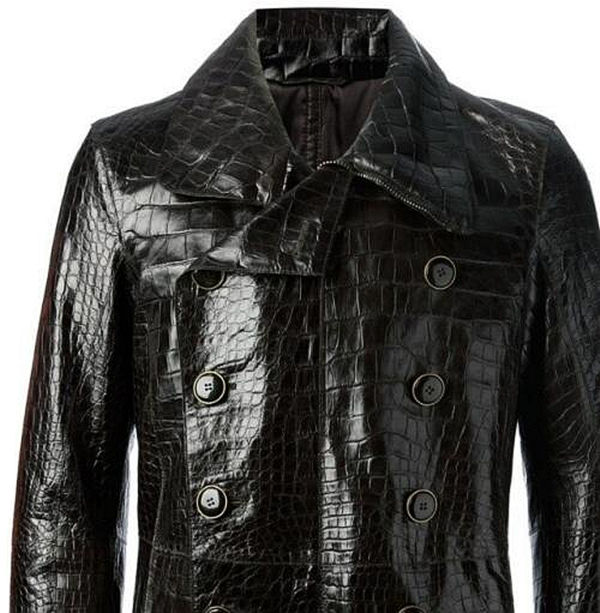 Crocodile Leather Jackets-2017