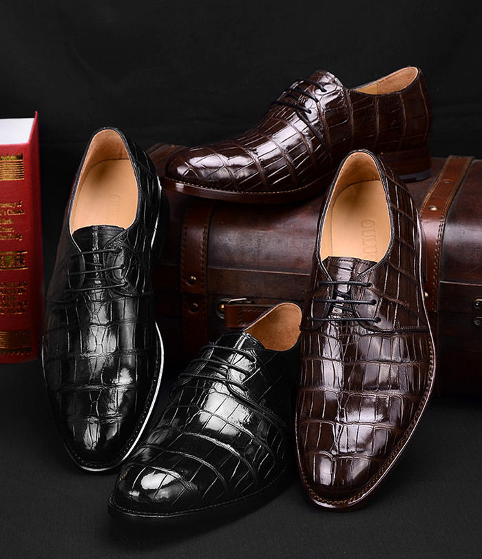Crocodile Leather Oxford Shoes