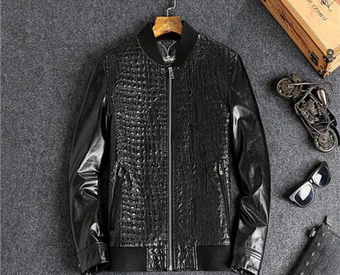 Customize Crocodile Leather Jackets