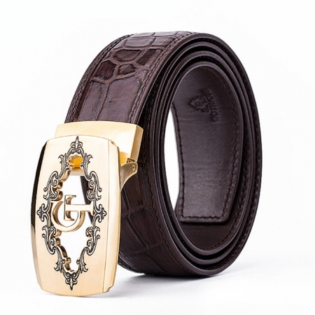 Designer Alligator Belt, Fashion Alligator Belt for Men