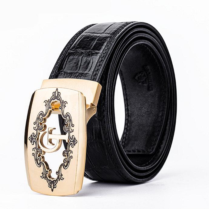 Designer Alligator Belt, Fashion Alligator Belt for Men-Black