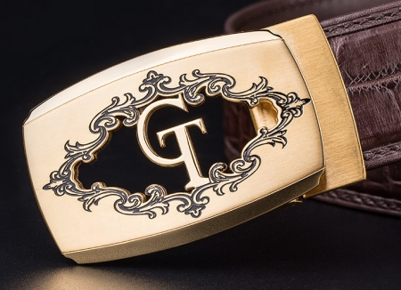 Designer Alligator Belt, Fashion Alligator Belt for Men-Buckle