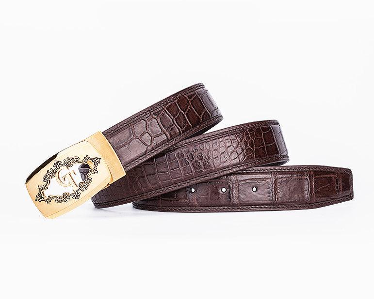 Designer Alligator Belt, Fashion Alligator Belt for Men-Lay