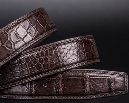 Designer Alligator Belt, Fashion Alligator Belt for Men-Leather