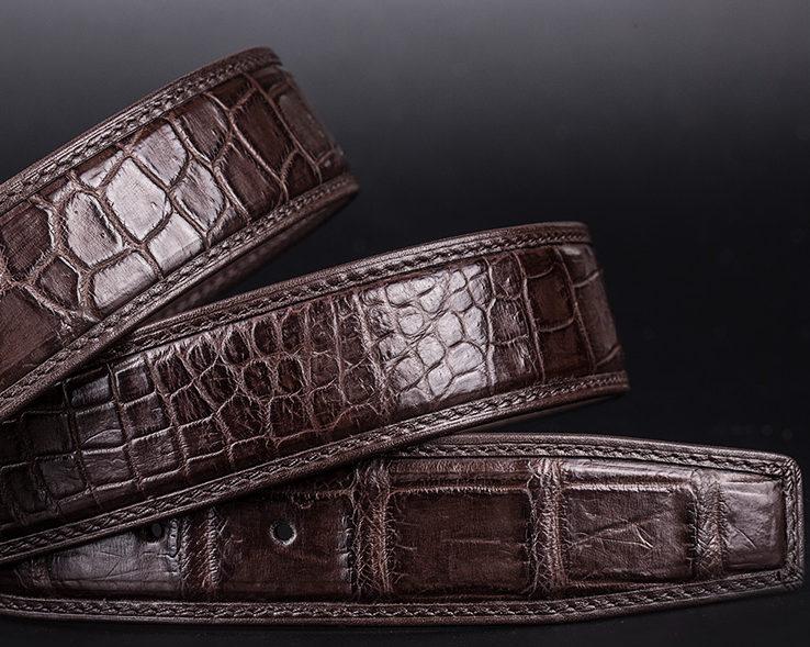 Designer Alligator Belt, Fashion Alligator Belt for Men-Leather
