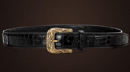 Dragon Pattern Buckle Crocodile Belt, Luxury Crocodile Belt for Men-Lay