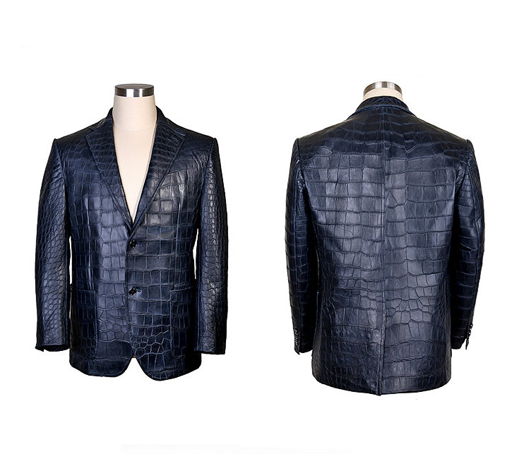 Exotic Alligator Skin Men's Jacket-Exhibition