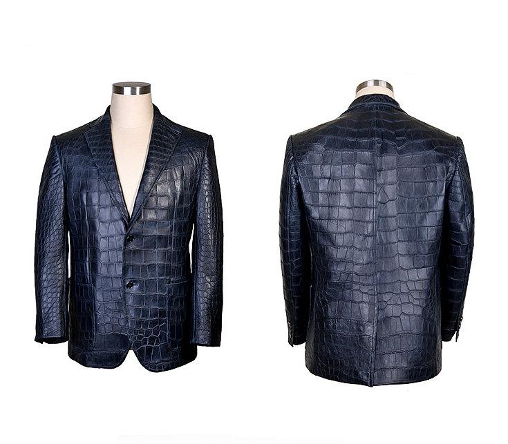Exotic Alligator Skin Men's Jacket-Exhibition