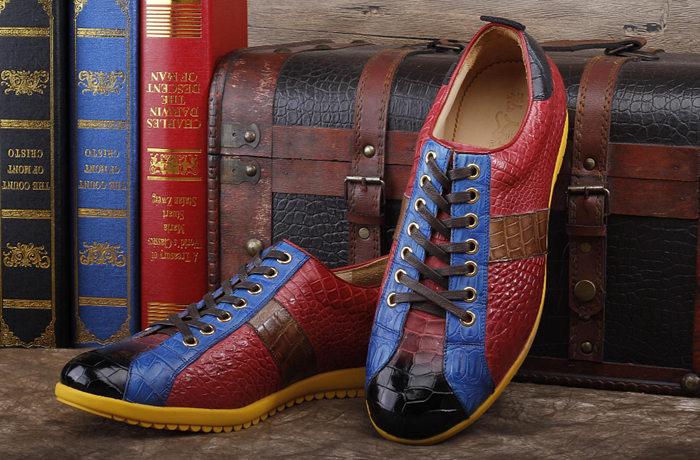 Fashion BRUCEGAO's Crocodile Shoes for Men