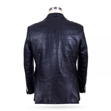 Genuine Alligator Skin Jacket-Back