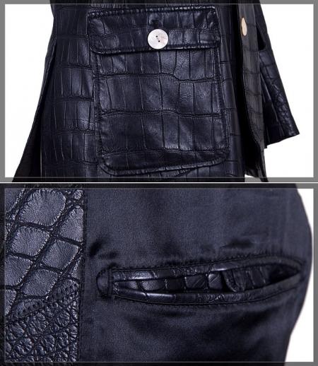 Genuine Alligator Skin Jacket-Details