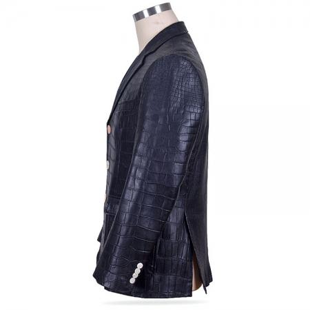 Genuine Alligator Skin Jacket-Side