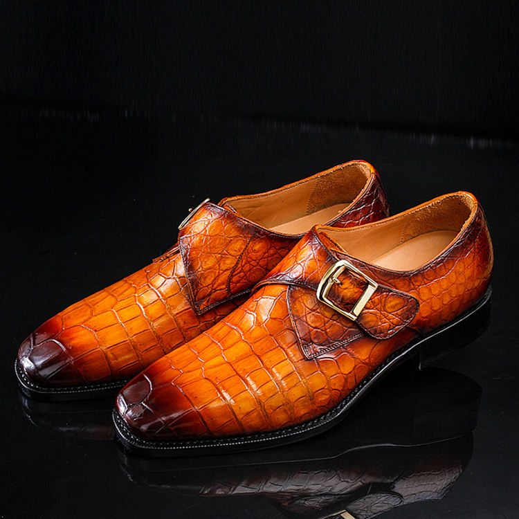Genuine Mens Alligator Shoes Brown Casual Alligator Shoes-Exhibitions
