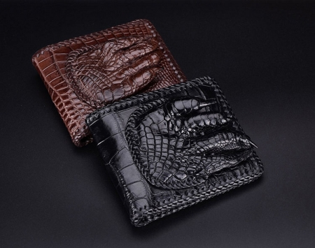 Handmade Crocodile Wallet Pocket Purse for Men-Exhibition