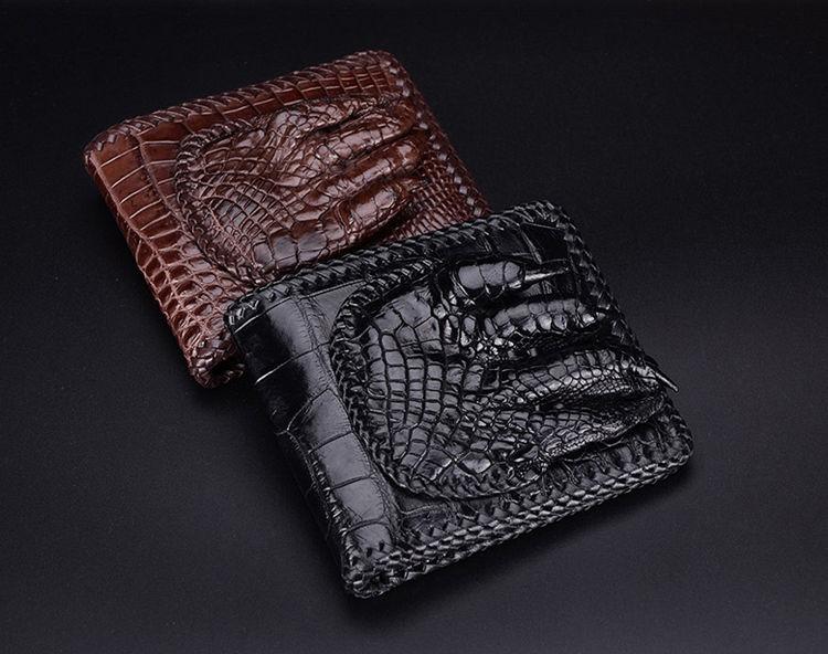 Handmade Crocodile Wallet Pocket Purse for Men-Exhibition