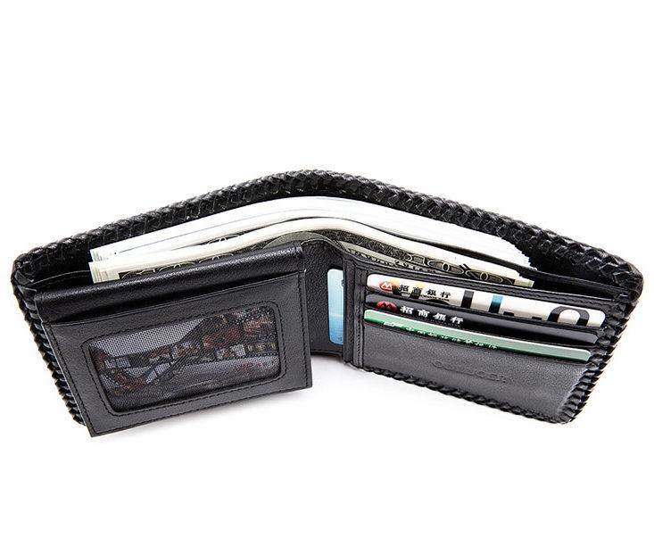 Handmade Crocodile Wallet Pocket Purse for Men-Inside