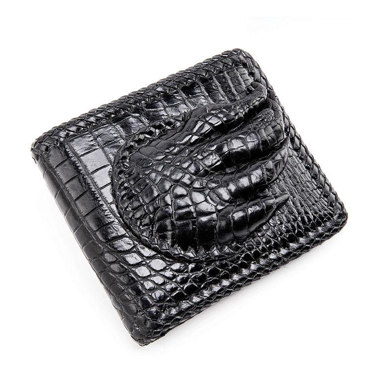 Handmade Crocodile Wallet Pocket Purse for Men